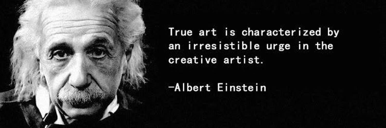 Albert Einstein On Artists